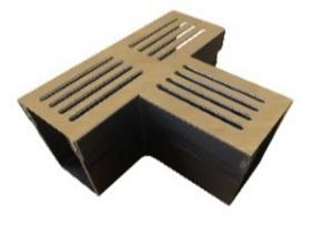 +Garden Drain 65/100 T-stuk met CorTen staal rooster