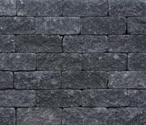 Wallblock Tumbled 30x12x12 cm Antraciet