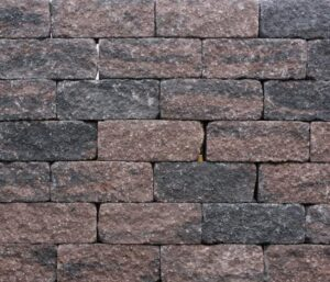 Wallblock Tumbled 30x12x12 cm Brons